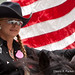 Cowgirl with American Flag