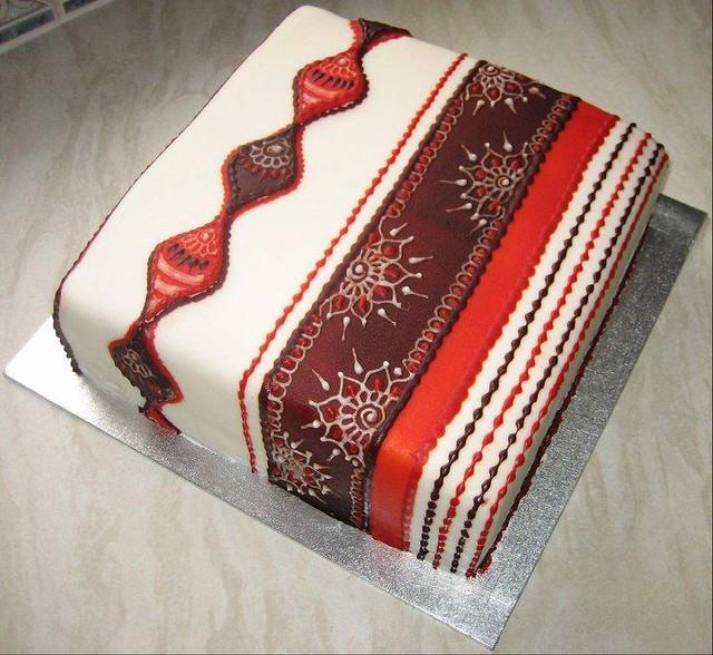 Mehndi Cake Recipe : Eggless mehndi cake flickr photo sharing