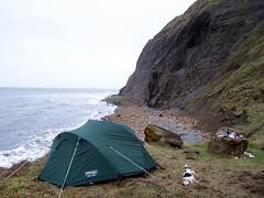 Landslip camping March 2011.
