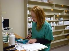 room, pharmacy technician, person,