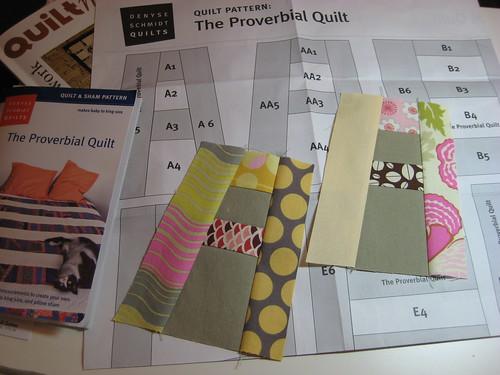 Proverbial Quilt - A start