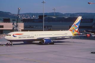 86bc - British Airways Boeing 767-336ER; G-BNWV@ZRH;28.02.2000