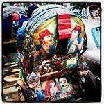 Colorful rickshaws in Dhaka, Bangladesh