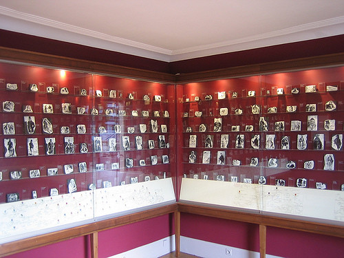 Print blocks of characters from La Comédie humaine by Honoré Balzac, Le maison de Balzac, Paris, 2008