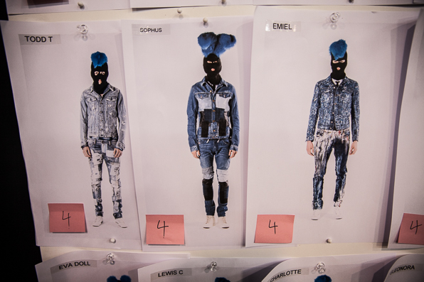 Balaclava mask finale looks at Diesel Fall Winter 2014 Show in Venice
