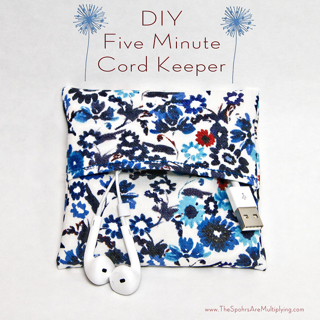 DIY Five Minute Cord Keeper