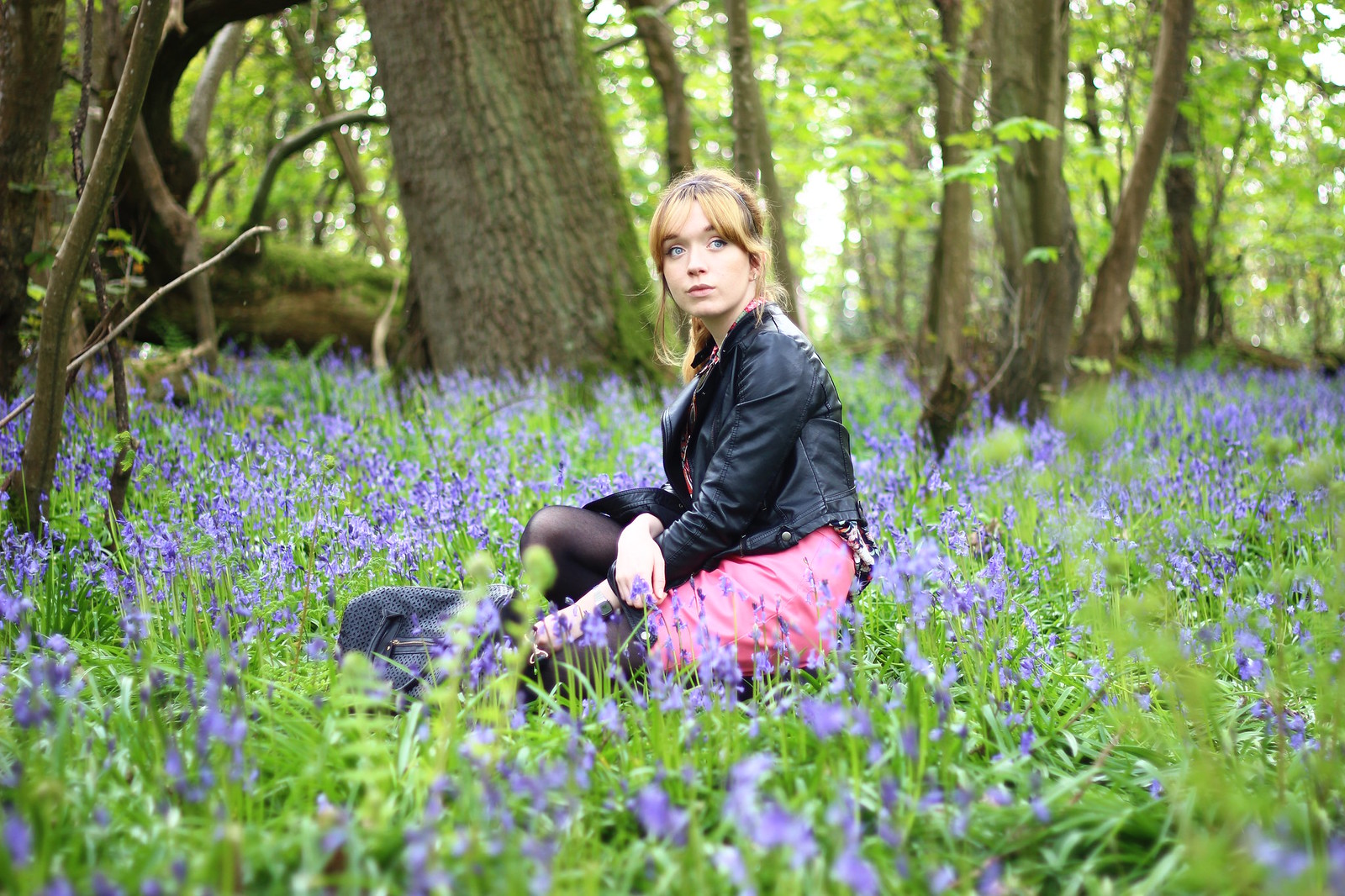 1bluebells, spring, fashion, florals, zara, high street, blog, personal style, river island, ebay, leather jacket, affordable, retro, 60's, sixties, topshop