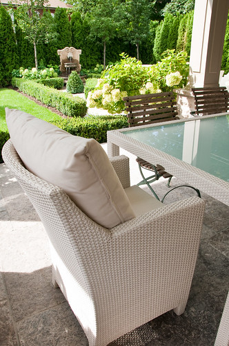 patio furniture in Toronto garden