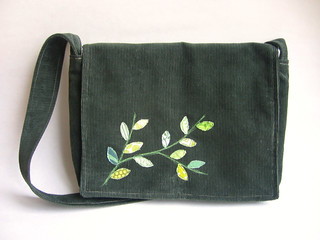 Vine Applique Messenger Bag
