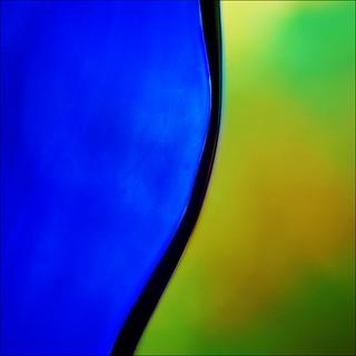 Protruding blue