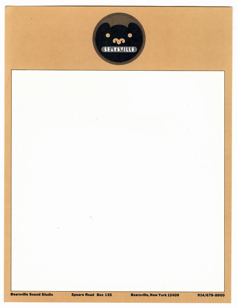 Milton Glaser: Bearsville Records (letterhead)   containerli