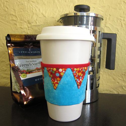 Iron Craft Challenge #4 - Cheery Bunting Coffee Sleeve