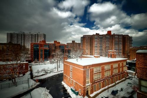 nyc newyorkcity winter cloud snow newyork church geotagged catholic apartment bronx snowstorm hdr riverdale spuytenduyvil mudpig stgabriel stevekelley stgabriels saintgabriel netherlandavenue stgabrielsromancatholicchurch