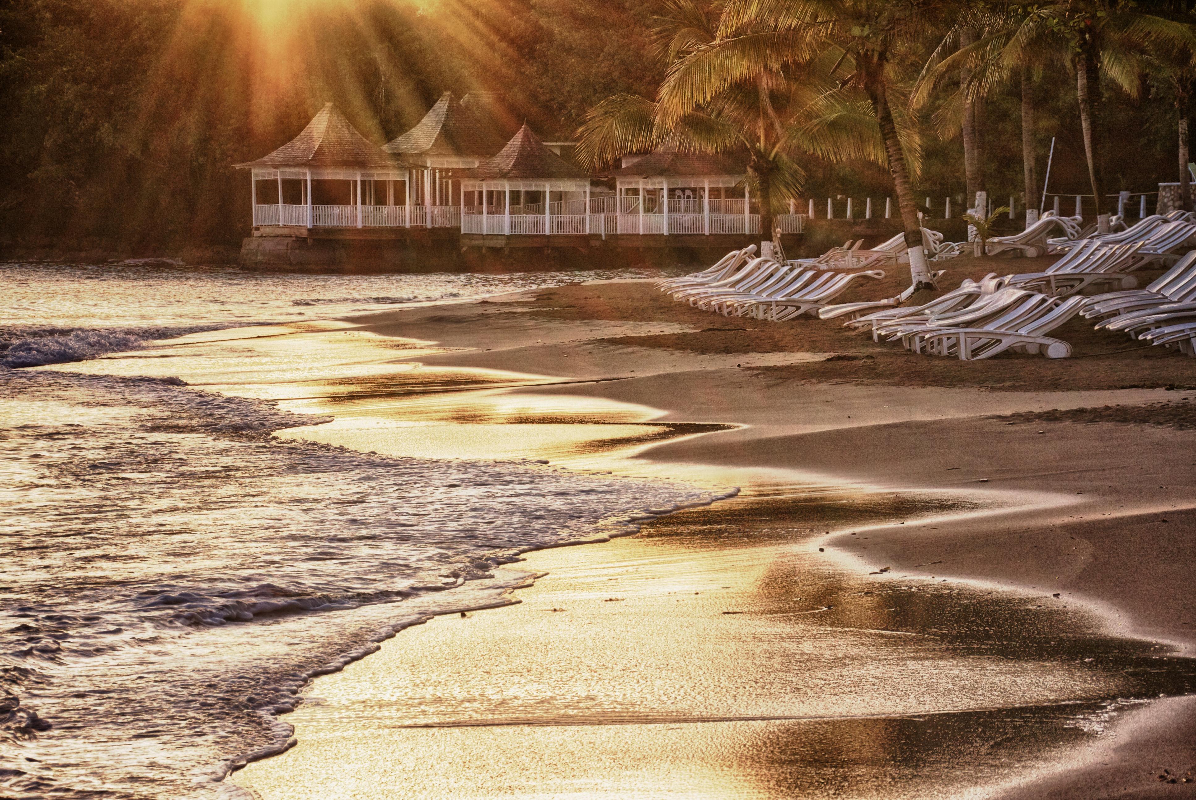 Ocho Rios Jamaika Sonnenaufgang Sonnenuntergang Zeiten