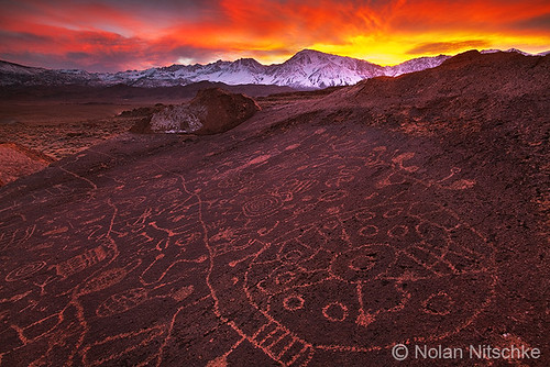Eastern Sierra Petroglyph Sunset