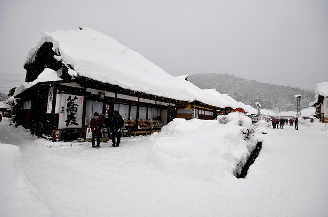 福島 雪の大内宿