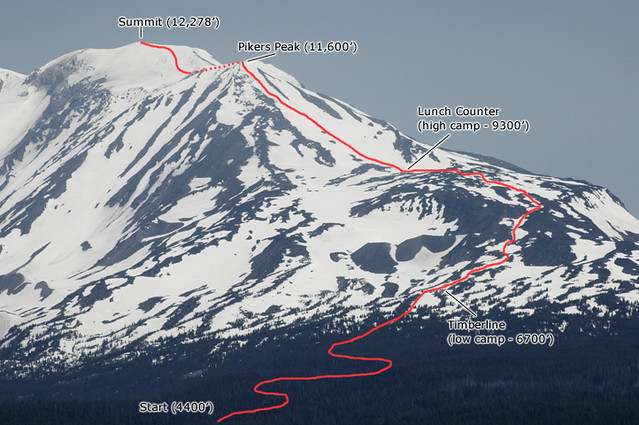 Mt Adams South Spur Climb Route