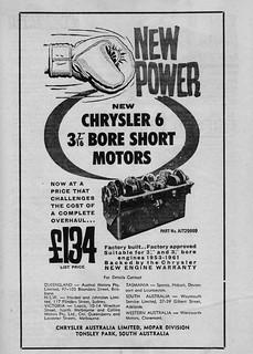 1961 Chrysler MoPar replacement engine ad
