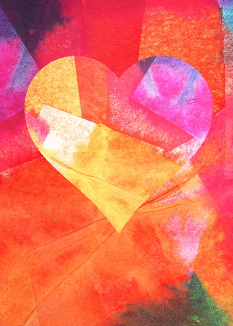 tissue paper heart_samantha hahn | Flickr - Photo Sharing!