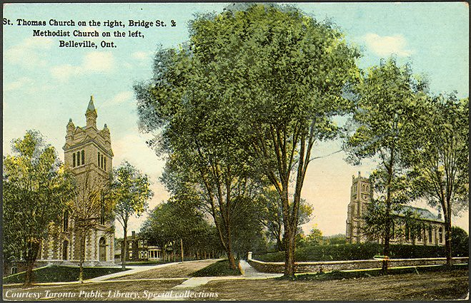 Saint Thomas (ON) Canada  city photo : St. Thomas Church on the right, Bridge St. & Methodist Church on the ...