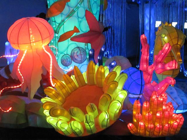 CIBC LunarFest's Lantern Aquarium at Vancouver Art Gallery