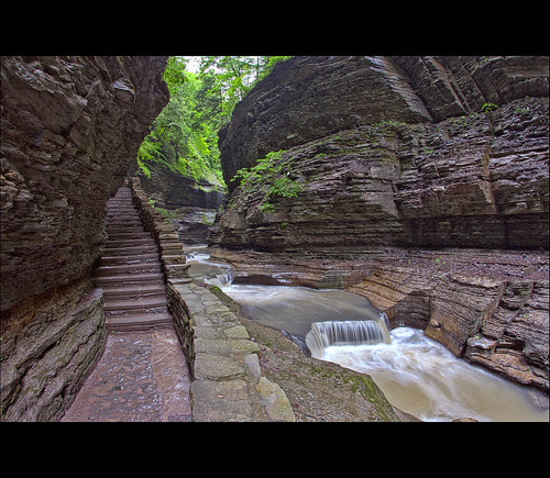 park new york ny water milk bacon long exposure slow state smooth silk glen trail shutter gorge hdr watkins silky
