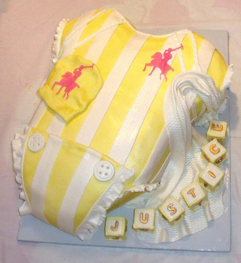 Yellow Polo Logo Baby Onesie Yellow White Polo