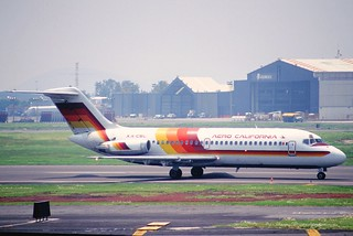 250bh - Aero California DC-9-15; XA-CSL@MEX;24.07.2003