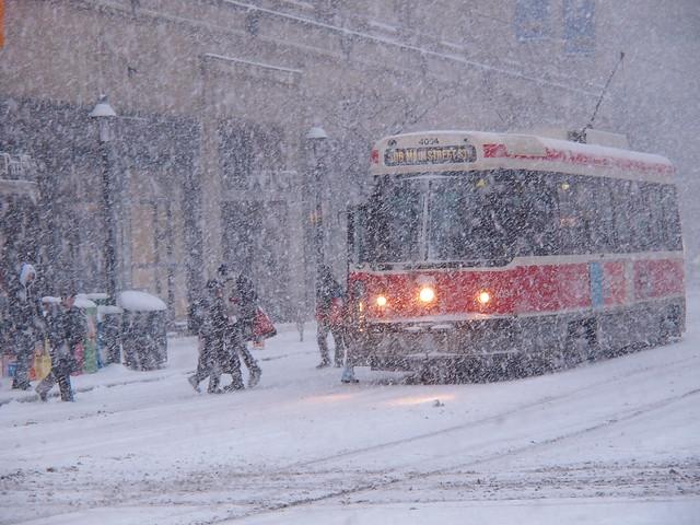 Snow Storm Toronto: Toronto Snow Storm, Streetcar