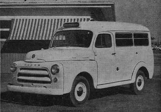 1957 Dodge 1-08 Suburban ambulance