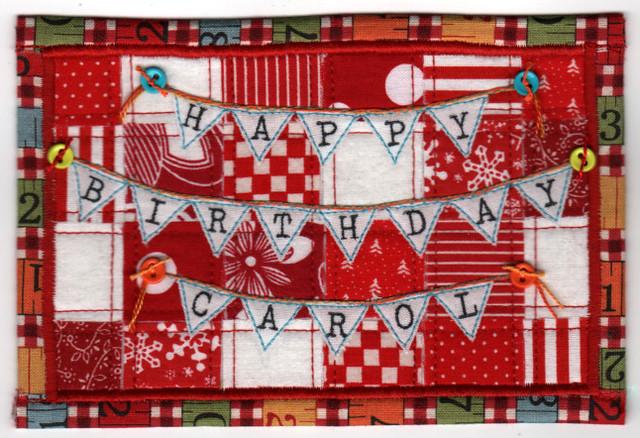 happy birthday carol postcard flickr photo sharing. Black Bedroom Furniture Sets. Home Design Ideas