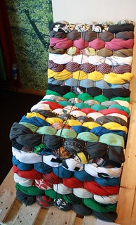 Chair made from old T-shirts