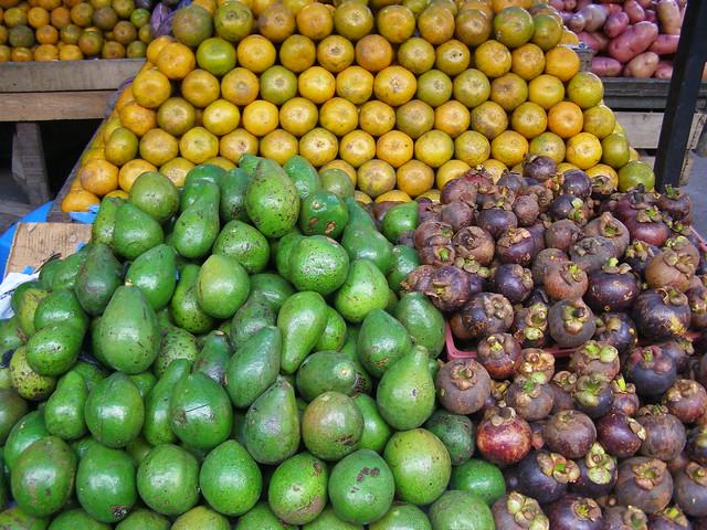 各式各样的水果