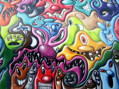 NYC - East Village: Bowery Mural - Kenny Scharf's The Gates Project