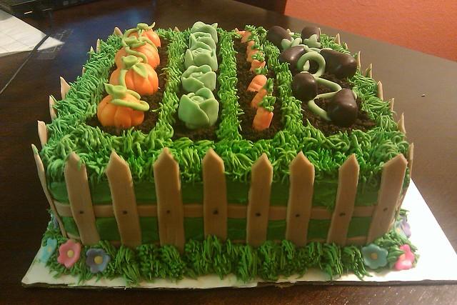 Garden Birthday Cake Flickr - Photo Sharing!