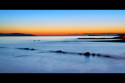 sunset seascape galway beach landscape day salthill end blackrock