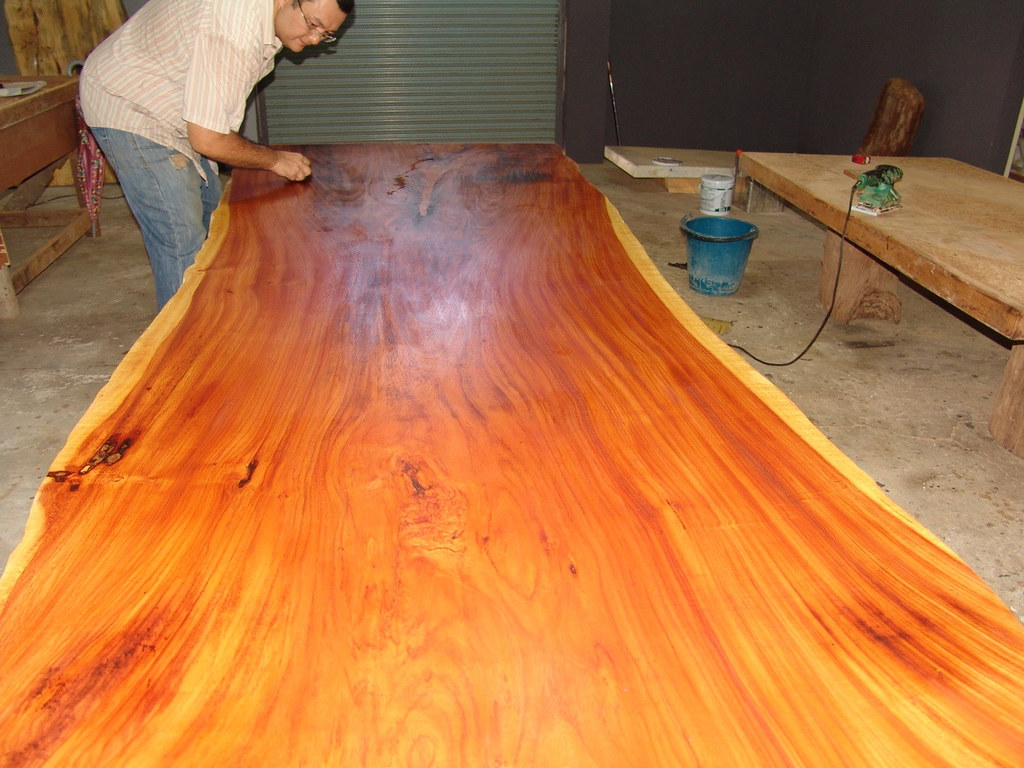 Teak oil indoor furniture indoor furniture aico for How to finish a wood slab