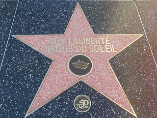 Founder of Cirrque Du Soleil Guy Laliberte's star on the Hollywood Walk of Fame