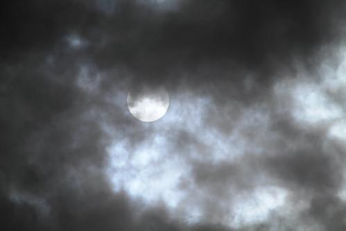 Sun & dark clouds