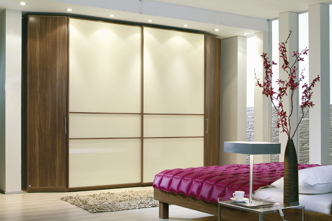 best service fd5ff b7a98 tempo_A5962G0004   Large wardrobes with cream doors, sliding ...