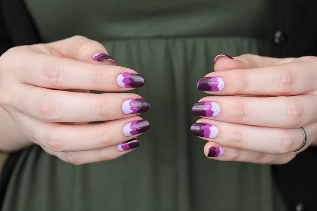 Purple mountain nails