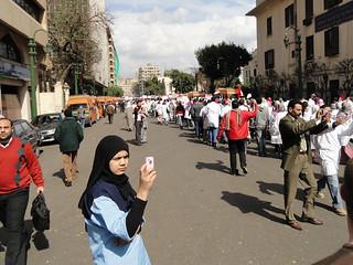 Mobile phone cameras capture protest moments - #Jan25 Egypt Revolution