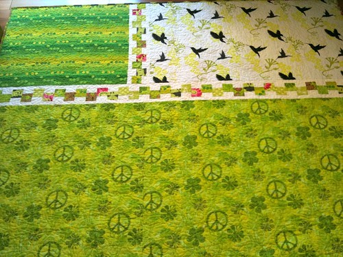 230511 - lime green quilt, back