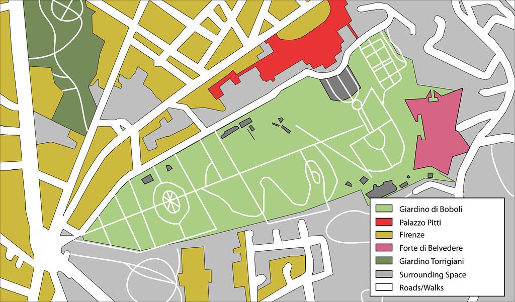 Boboli Gardens Context Map Contextual Study Map Of The Bob Flickr