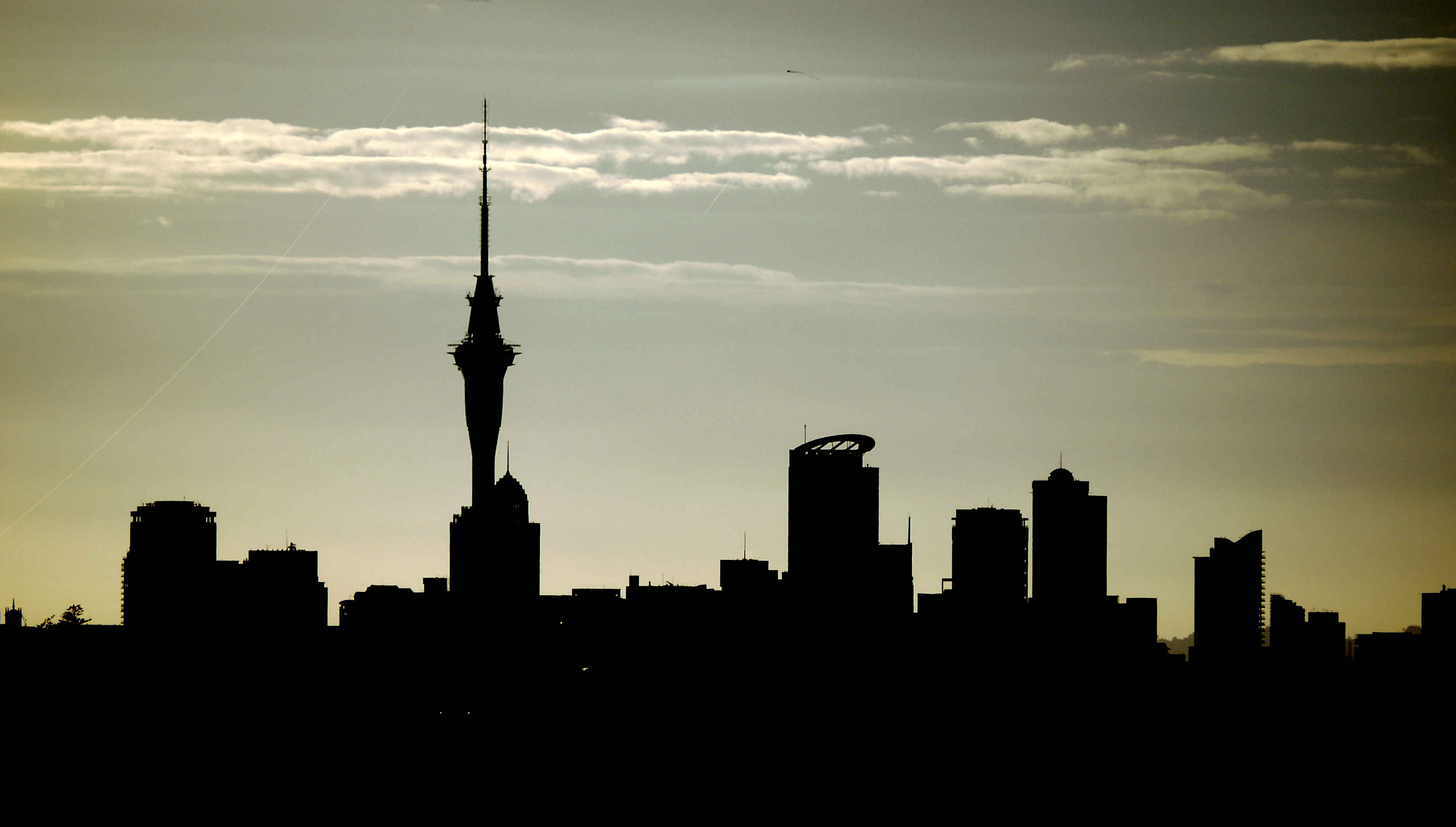 Auckland City Silhouette | Flickr - Photo Sharing!