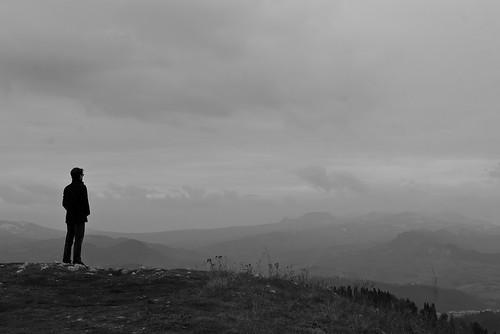 boy panorama white mountain black me montagne myself landscape person persona io hills nothing void bianco nero paesaggio colline ragazzo niente 105mmf28 nulla