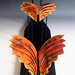 """Flying to the sun"" Horsehair Raku Sculpture"