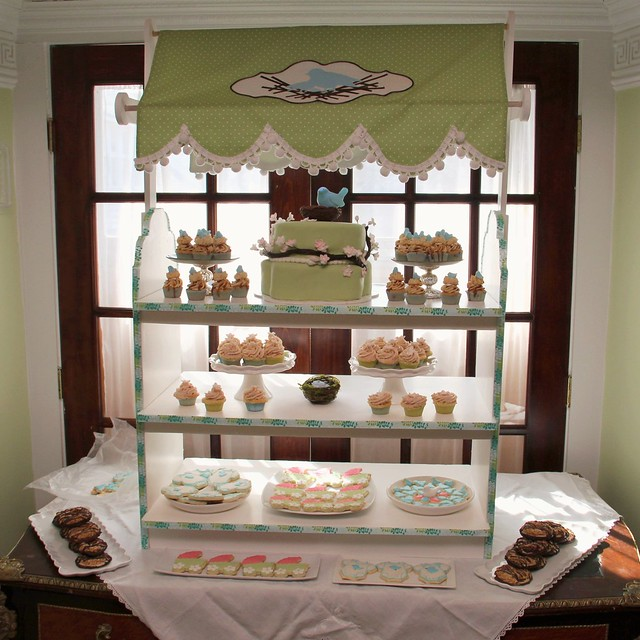 Display Baby Shower: Feathering The Nest Baby Shower Dessert Table Display