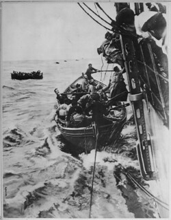 Photograph of Passengers Rescued from the French Liner Sontay, 04/1918