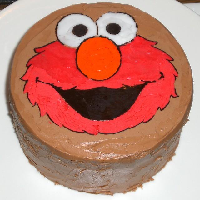Sesame Birthday Cake